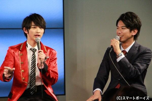 トッキュウジャーで共演の2人。横浜さんが平牧さんに「メガネは?」とボケると、逆に横浜さんへ「けん玉は?」と仕返しをする平牧さんといったやり取りも!
