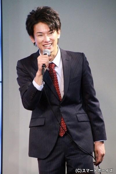 東条昴役の平牧さん。休憩中にピアノを弾いていたそうなので、続編が実現できたらピアノシーンを披露してもらいたいですね!
