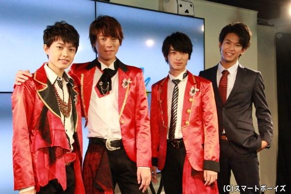 (左から)上村海成さん、伊勢大貴さん、横浜流星さん、平牧仁さん