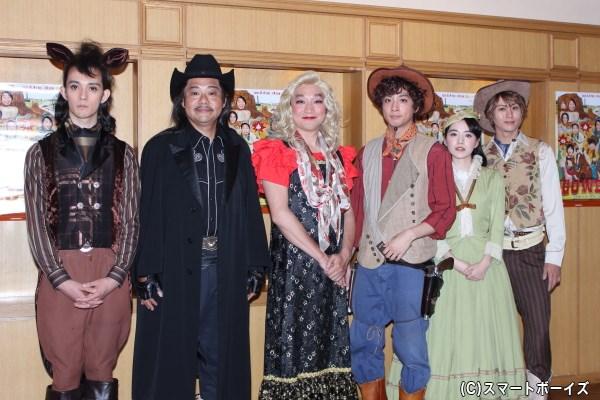 (写真左より)栗原類さん、田口浩正さん、池田鉄洋さん、渡部秀さん、小島藤子さん、太田基裕さん
