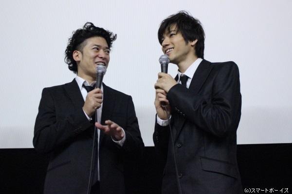 「山田裕貴はただのイケメン俳優じゃない」と熱く語る高岡さんに「もっと言って!」と、嬉しそうな山田さん(笑)