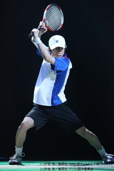 越前リョーマ役の古田一紀さん。ダンスも歌もパワーアップ!