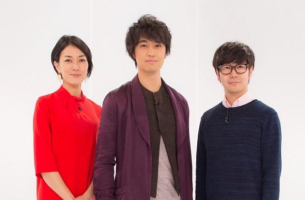 (左より)板谷由夏さん、斎藤工さん、中井圭さん