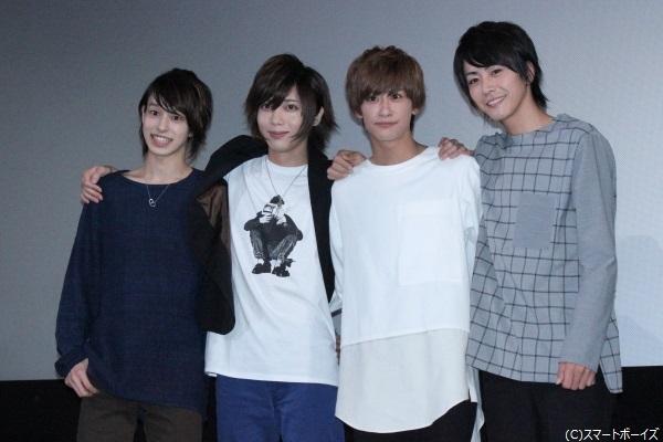 (写真左より) 杉江大志さん、染谷俊之さん、赤澤燈さん、廣瀬智紀さん