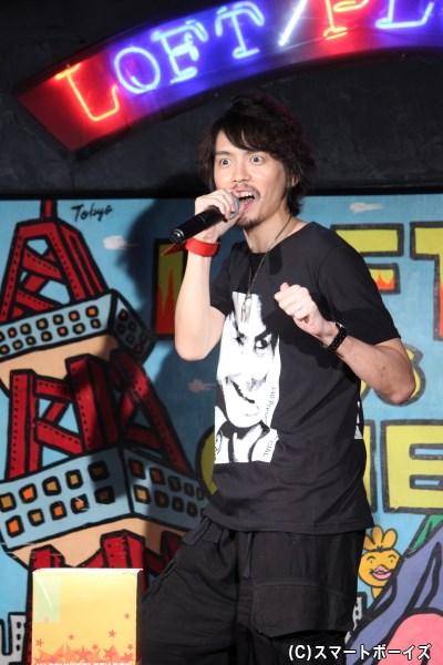 """ラストは新作ギャグ「ほんとにほんとにほんとにほんとに""""ライダー""""だ!」で締めた村上幸平さん、39歳でした!"""