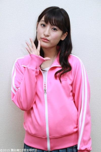 ピンクのジャージ姿もカワイイですね!