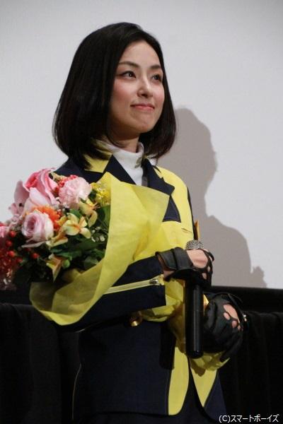 デカイエロー/日渡茉莉花役の木下さん 「制服を着て緊張しました。ジャスミンにならなきゃって(笑)」