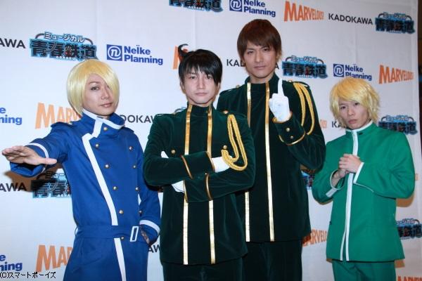 (左より)Kimeruさん、永山たかしさん、滝川英治さん、豊永利行さん