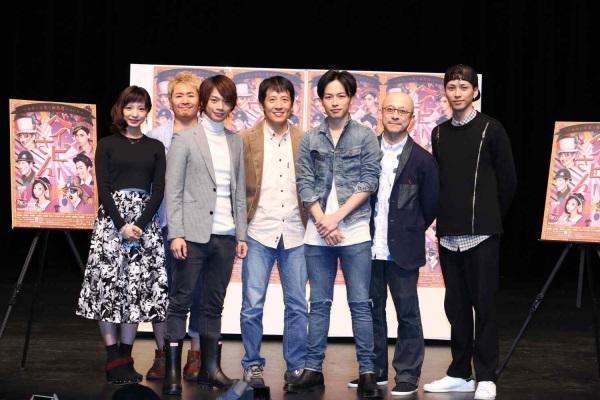 (左から)入来茉里さん、坂元健児さん、池田純矢さん、小須田康人さん、植本潤さん、鈴木勝吾さん、井澤勇貴さん