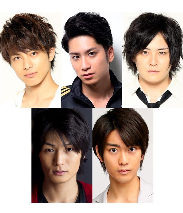 花の85年組! (上段左から)米原幸佑さん、滝口幸広さん、宮下雄也さん (下段左から)八神蓮さん、南圭介さん