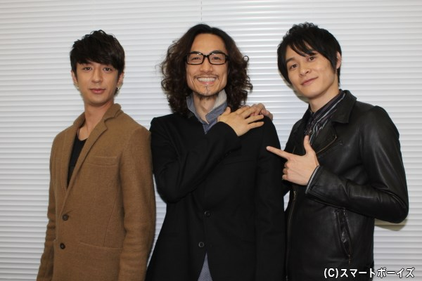 (写真左より)松本寛也さん、唐橋 充さん、藤原祐規さん