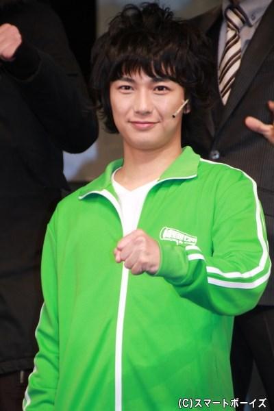 勇助・M・グリーン役の清水さん。帰国子女で片言の日本語しかしゃべられないそうですが……