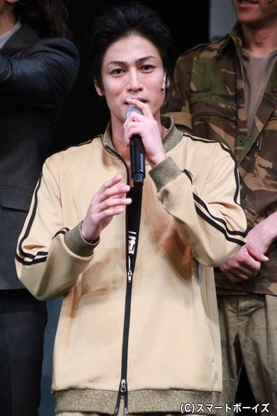 金原寿朗役の丸山さん。舞台挨拶でのテンパりぶりはキョウリュウジャーの時から変わらずでした