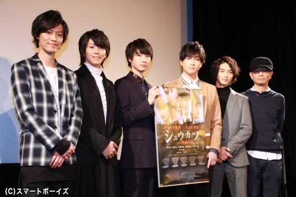 (左より)戸谷公人さん、廣瀬智紀さん、桜田通さん、渡部秀さん、横浜流星さん、千葉誠治監督