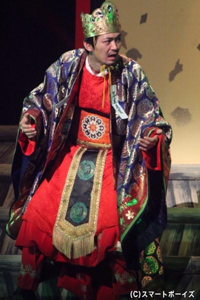 亡き弟の亡霊に怯える桓武天皇役を小林且弥さんが熱演