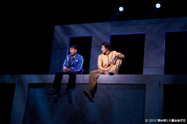 (左)青木純蔵役の金城大和さん (右)金原寿朗役の丸山敦史さん