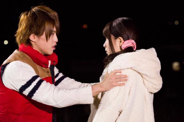 千鶴の幼馴染み、藤堂平助(左・石渡真修さん)の一途な想いは届くのか