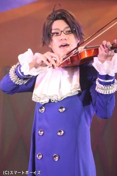 バイオリンを手にストーリーを進める、麗しのオーストリア