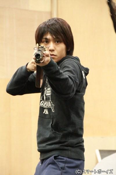 啄木鳥(きつつき)役の佐野和真さん
