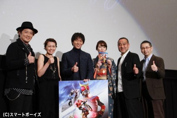 (左より)酒井一圭さん、千崎若菜さん、葛山信吾さん、たなかえりさん、松山鷹志さん、髙寺成紀プロデューサー