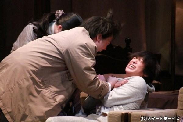 赤澤と西島さんによる迫真の演技! 2人の熱演は必見!