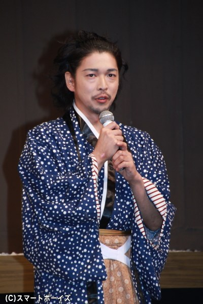 畠山義寧役の村田洋二郎さん