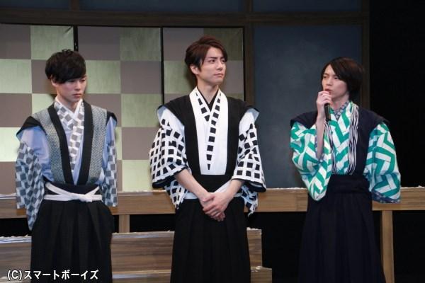 和田さん&柾木さん&北村さんは、吉良上野介の家臣を熱演!