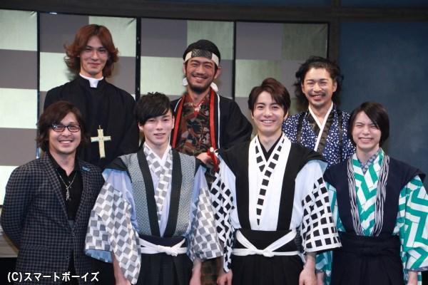 (左前列より)西田大輔さん、柾木玲弥さん、和田琢磨さん、北村諒さん (左後列より)小谷嘉一さん、谷口賢志さん、村田洋二郎さん