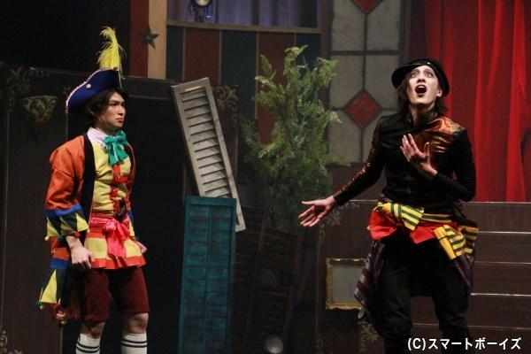 """松田凌さん(左)と白又さん(右)、さらには松田岳さんの""""仮面ライダー鎧武「木の実3人組」""""の共演も必見!"""