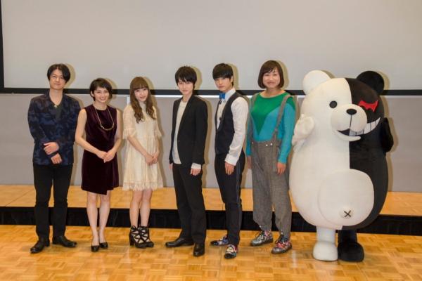 (写真左から)松風雅也さん、岡本 玲さん、神田沙也加さん、本郷奏多さん、中村優一さん、山崎静代さん