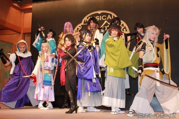 刀剣男士11名、初のキメショット!