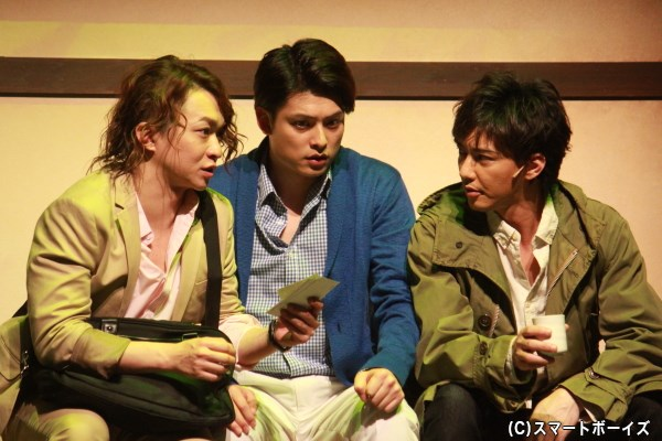 事件を追う雑誌記者たち(平山佳延、伊阪達也)とフリーカメラマン(金子昇)