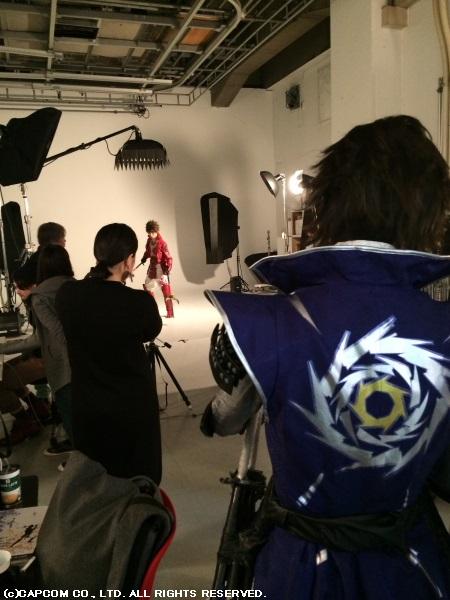 塩野さんが見守るなか、真田幸村役の松村さんから撮影がスタート!