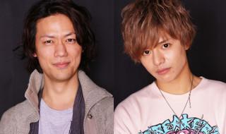 ハーロック役の林野健志さん(左)と、台羽正役の鈴木勤さん