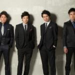 (写真左から)結成15周年、*pnish*の森山栄治さん、佐野大樹さん、鷲尾昇さん、土屋佑壱さん