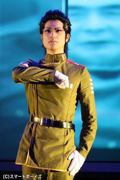立場は違ってもハーロックも認める男、キリタ・イソラ役の霜月紫さん