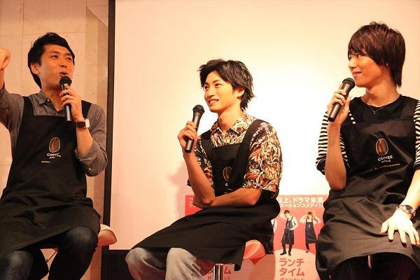 (写真左から)せとたけおさん、木村達成さん、山崎大輝さん