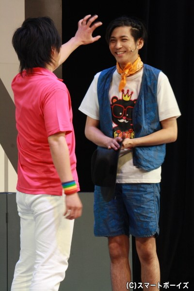 歌とダンスが好きな、金次郎の兄・愛之助(3歳)役の井澤勇貴さん