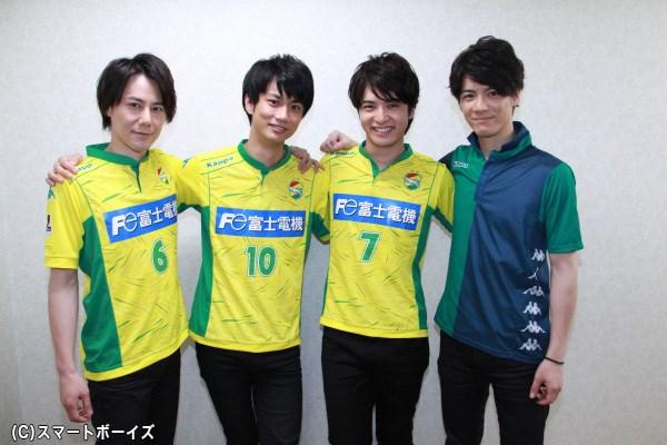 馬場さん&中村優一さん&根本さんが着用するジェフ千葉のユニフォームは、実際の試合で使うホンモノ仕様!