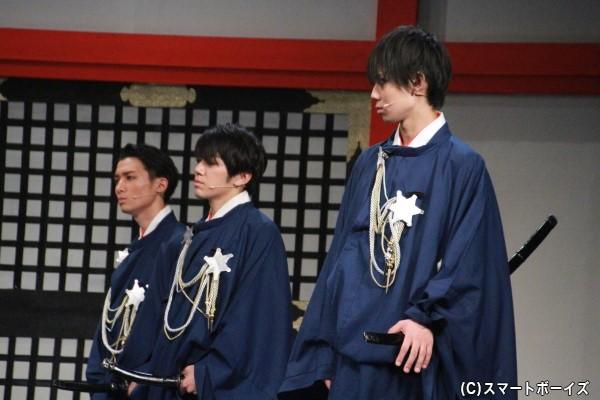(左より)竹内寿さん、月岡弘一さん、中村太郎さん