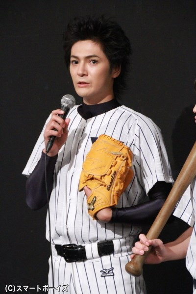 真田俊平役の上田堪大さん