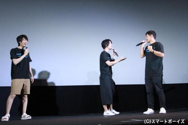 「(キャストが)鈴木さんだったら良かった」との中前監督にツッコミをを入れる高崎さん