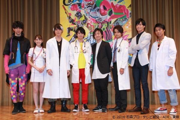 (左より) 甲斐翔真さん、松田るかさん、松本亨恭さん、飯島寛騎さん、三浦大知さん、瀬戸利樹さん、岩永徹也さん、小野塚勇人さん