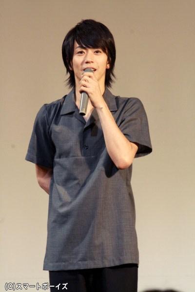 マイペースな話しぶりで会場を笑わせくれた、丸井裕之役の廣瀬智紀さん