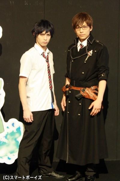 (左から)奥村燐役の北村諒さん、奥村雪男役の宮崎秋人さん