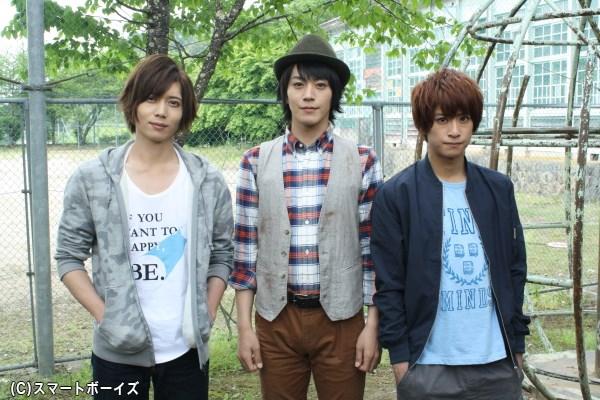 (左から)田宮役の染谷俊之さん、主演・丸井役の廣瀬智紀さん、青島役の赤澤燈さん