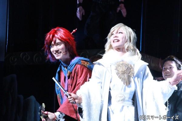 初演では敵同士だったと龍馬と慶喜でしたが、新作では一緒にセッション!