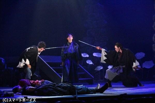 人斬りの異名を冠する中村半次郎が、土方歳三・斎藤一と対峙――