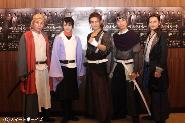 (写真左より) 森山栄治さん、佐藤永典さん、土屋佑壱さん、鷲尾 昇さん、佐野大樹さん