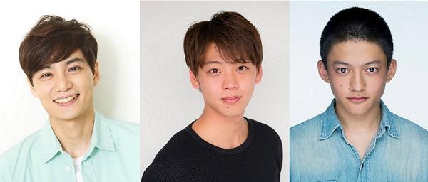 (左から)『男子旅』に出演する矢野聖人さん、竹内涼真さん、福山康平さん